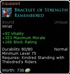 Bracelet of Remembered Strength